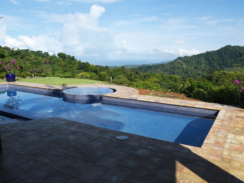 Spacious contemporary design with open ocean view and pool for Pool design costa rica